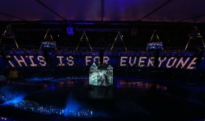 Sir Tim Berners-Lee at the Olympic 2012 opening ceremony